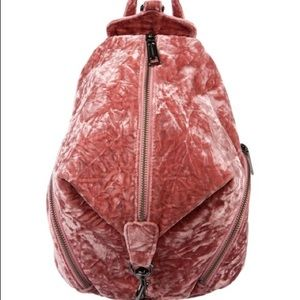 Rebecca Minkoff mini Julian backpack pink velvet